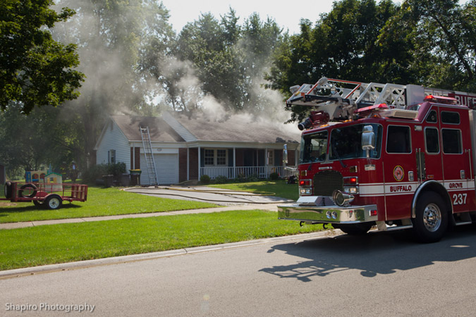 Buffalo Grove house fire 8-31-11 Farrington Drive