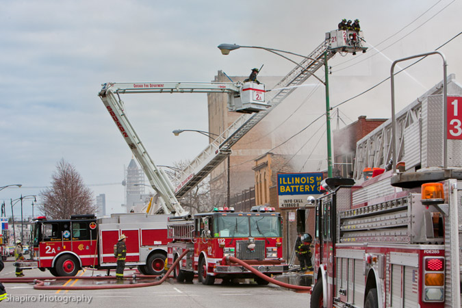 Chicago Fire Department Still & Box Alarm 4-11-11 at 2543 W. Irving Park Road