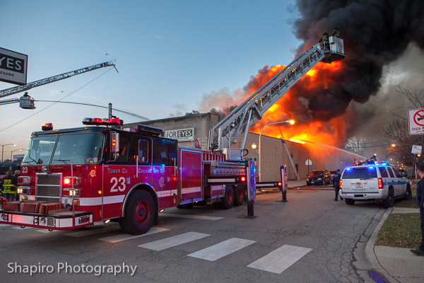 massive 4-11 alarm fire in Chicago 11-15-13 at 3106 W Peterson Avenue shapirophotography.net