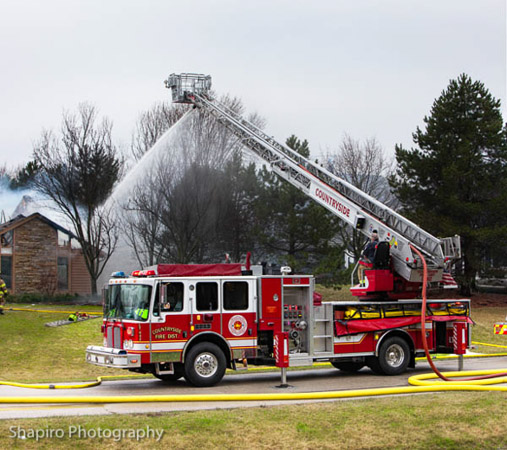 Countryside FPD house fire Rosenbauer Raptor Metz