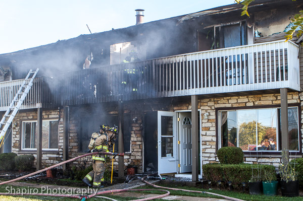 2-Alarm fire in Gurnee 10-27-13 at 17434 Walnut Lane Lary SHapiro photography