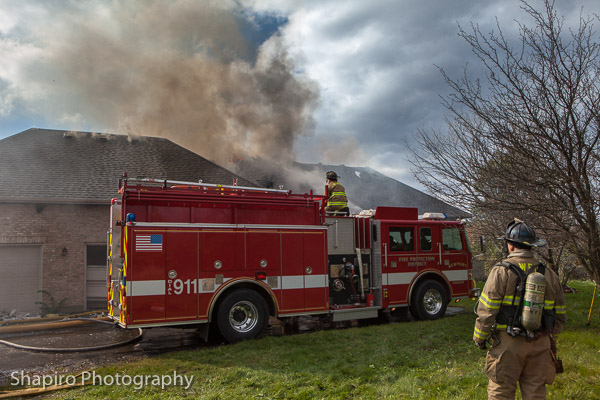 4-alarm house fire in Wadsworth ilinois 10-24-13 Newport Township FPD Larry SHapiro photography