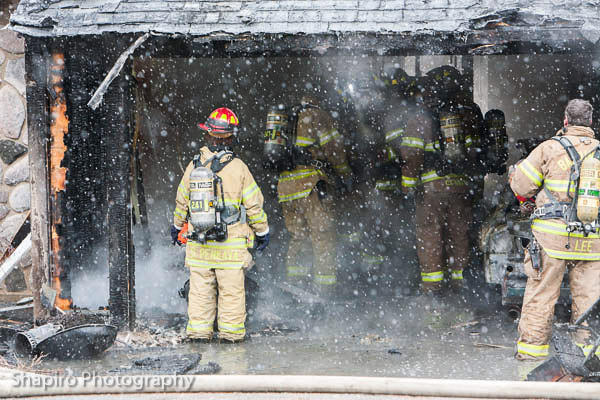 fire photos of Wauconda house fire 1-23-13 at 26703 N Main Street Larry Shapiro