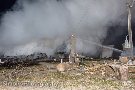 vacant house destroyed by fire in Hawthorn Woods IL 11-8-14 Countryside FPD Larry Shapiro photographer shapirophotography.net