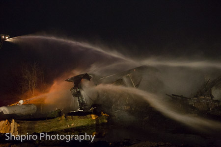 vacant house in Hawthorn Woods IL destroyed by fire 11-8-14 Larry Shapiro photographer shapirophotography.net