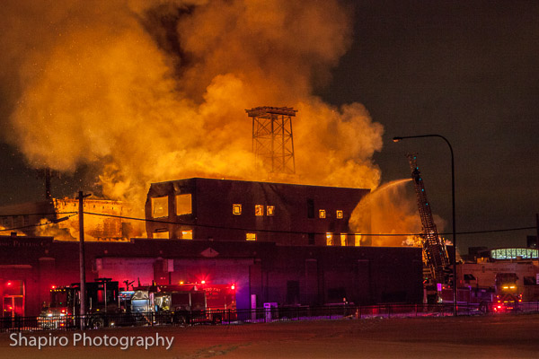 photos of massive warehouse fire in Cicero IL 1-21-14 larry Shapiro photography
