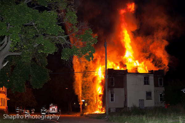 Detroit Fire Department fully engulfed vacant four-flat June 18 2014 Larry Shapiro photography shapirophotography.net