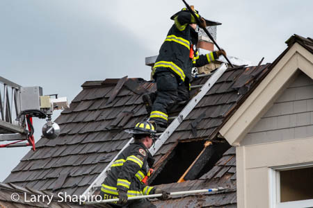 house struck by lightning in GLenview IL 8-25-14 at 4177 Midway Lane larry shapiro photography shapirophotography.net