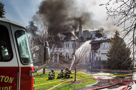 7-Alarm fire at 24 Rolling Hills Drive in Barrington Hills 4-18-15 Brrington Countryside FPD Larry Shapiro photographer shapirophotography.net
