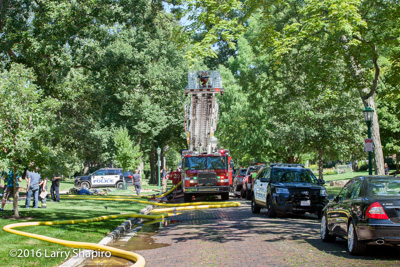 Wilmette Fire Department IL house fire at 1336 Ashland Avenue 8-22-16 Larry Shapiro photographer shapirophotography.net E-ONE fire trucks