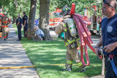 Wilmette Fire Department (IL) house fire 8-22-16 at 1220 Chestnut Avenue Larry Shapiro photographer shapirophotography.net E-ONE fire trucks