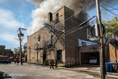 Chicago Fire Department 3-11 Alarm fire 6-1-17 at 2945 N Milwaukee Avenue Larry Shapiro photographer Shapirophotography.net