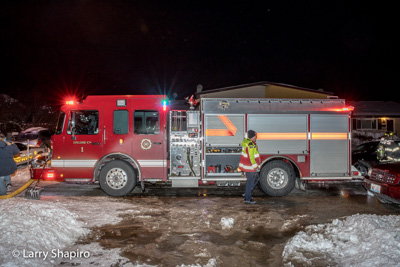 North Maine FPD IL townhouse fire 2-11-18 at 9023 Terrace Place Larry Shapiro photographer shapirophotography.net #larryshapiro fire hydrant buried in snow fire trucks