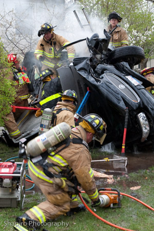 Buffalo Grove extrication and fire