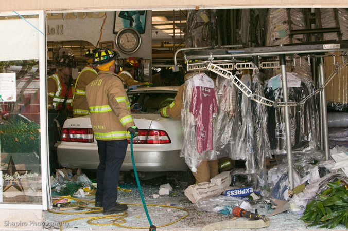 Buffalo Grove Fire Department car into building extrication