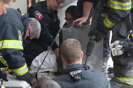 Wheeling IL child trapped 11-21-10