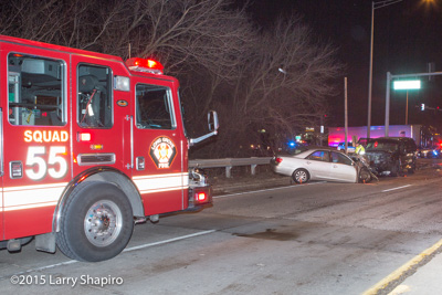 two-car multiple injury crash in Long Grove IL 2-3-16 at Lake Cook RD and IL-53 Hicks Road Larry Shapiro photographer shapirophotography.net