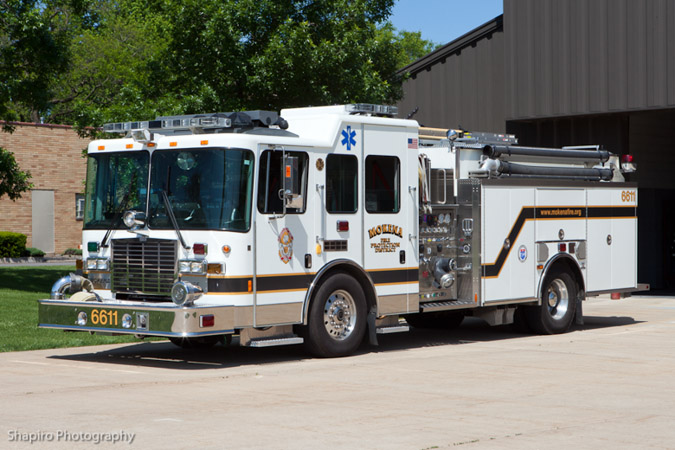 Mokena Fire Protection District HME Ahrens Fox engine 6611
