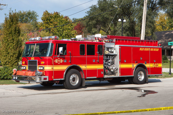 Palos Heights FPD fire trucks apparatus