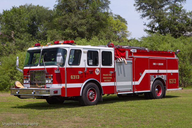 Palos Fire Protection District fire apparatus trucks