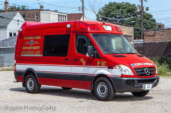 Cicero Fire Department Ambulance F10 Mercedes Benz Sprinter Demers Ambulances Type II Larry Shapiro photography