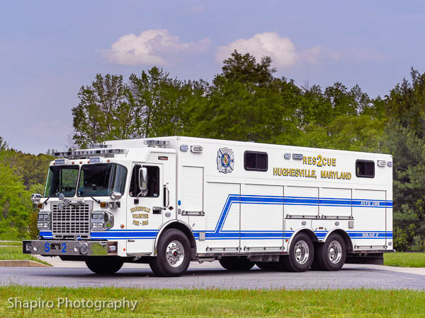 Hughesville VFD MD heavy Rescue squad Custom Fire Apparatus Spartan chassis Larry SHapiro photography