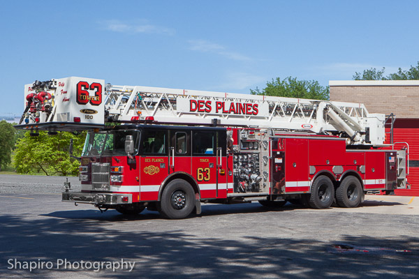Des Plaines Fire Department Tower Ladder 63 formerly Lake Zurich Truck 1 Larry Shapiro photography shapirophotography.net