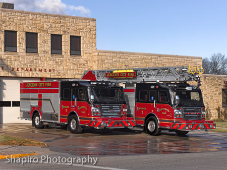 Junction City Fire Separtmetn apparatus Kansas Rosenbauer America Commander Larry Shapiro photography shapirophotography.net