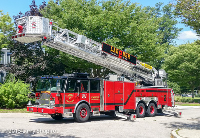 Kingston Fire District RI fire trucks fire apparatus Larry Shapiro photographer shapirophotography.netE-ONE Cyclone II HP95 tower ladder