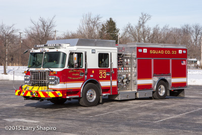 Highland Park FD (IL) Squad 33 2015 SpartanERV Star Series eingine fire truck fire apparatus Larry Shapiro photographer shapirophotography.net