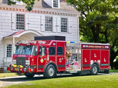 Lawrence Cedarhurst Fire Department apparatus Engine 3 2016 E-ONE Cyclone II rescue pumper Larry Shapiro photographer shapirophotography.net