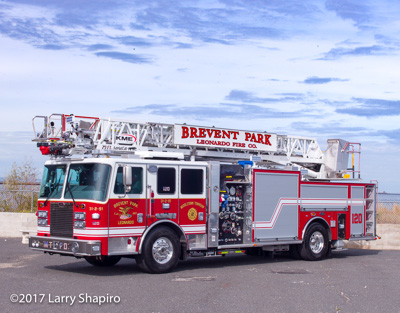 Brevent Park Leonardo Fire Company Middletown Township NJ fire department fire trucks KME Renegade AerialCat quint shapirophotography.net Larry Shapiro photographer