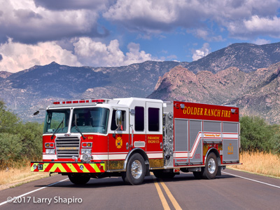 Golder Ranch Fire District Tucson AZ fire engine KME Predator PRO rescue engine mountains desert Larry Shapiro photographer shapirophotography.net #larryshapiro
