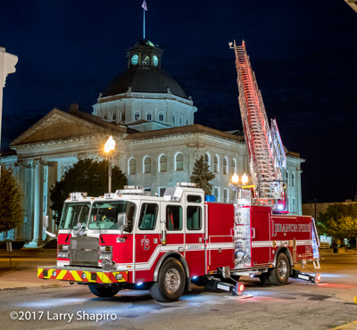 Lebanon Fire Department Indiana E-ONE Cyclone II Metro 100 quint #larryshapiro Larry Shapiro photographer shapirophotography.net