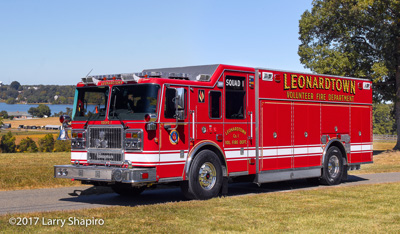 Leonardtown Volunteer Fire Department MD Seagrave fire trucks apparatus Seagrave Marauder II heavy rescue and pumper tanker Larry Shapiro photographer shapirophotography.net #larryshapiro
