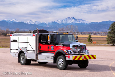 Mountainview Fire District Longmont CO fire trucks Rosenbauer America Command engine Timberwolf IHC 7400 Rockie Mountains fire trucks #larryshapiro shapirophotography.net Larry Shapiro photographer