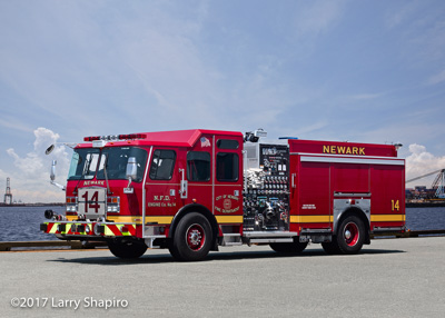 Newark Fire Department NJ Engine