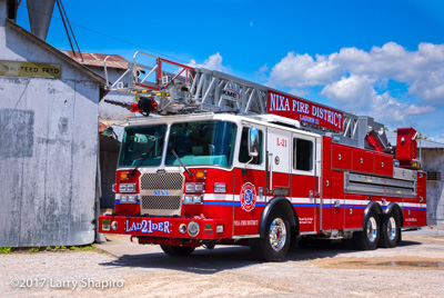 Nixa Fire Department MO fire truck KME Predator AerialCat ladder truck fire truck Larry Shapiro photographer shapirophotography.net #larryshapiro