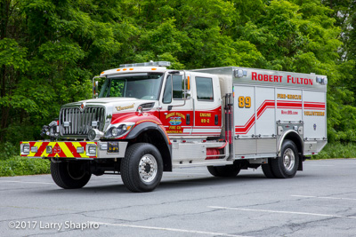 Robert Fulton Fire Company Engine 89 Peach Bottom PA fire truck Rosenbauer America Timber Wolf IHC 7400 fire engine shapirophotography.net #larryshapiro Larry Shapiro photographer