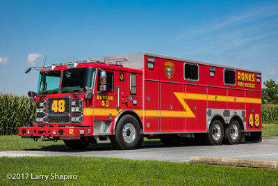 Ronks Fire Department PA Seagrave Marauder II heavy rescue unit fire truck Larry Shapiro photographer shapirophotography.net #larryshapiro