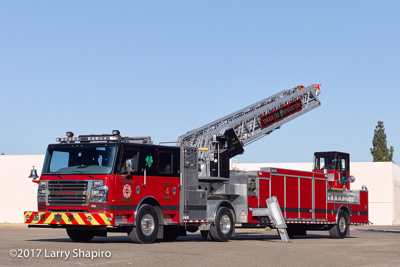 Stockton Fire Department CA Truck 4 Rosenbauer America Commander Viper TDA tractor-drawn aerial ladder Engine 3 Haz Mat unit fire trucks apparatus Larry Shapiro photographer shapirophotography.net #larryshapiro