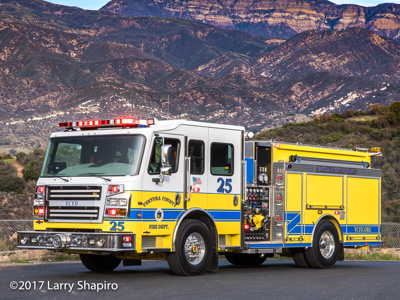 Ventura County Fire Department CA fire trucks Rosenbauer Commander Engine 25 Engine 30 Truck 44 Viper TDA quint tractor-drawn aerial quint Engine 20 American LaFrance Eagle bulldozers fire trucks shapirophotography.net Larry Shapiro photographer #larryshapiro