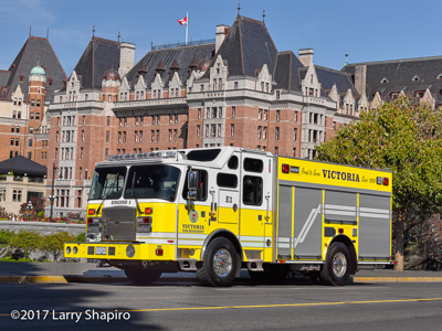 Victoria Fire Department BC fire trucks E-ONE Cyclone II rear pump fire engines yellow fire trucks #larryshapiro shapirophotography.net Larry Shapiro photographer